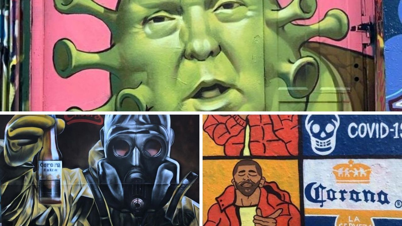 Dünyadan Korona Virüs Graffitileri