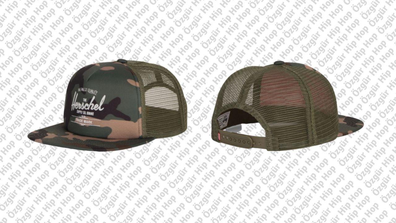 Herschel Supply Whaler Mesh Woodland Camo Şapka