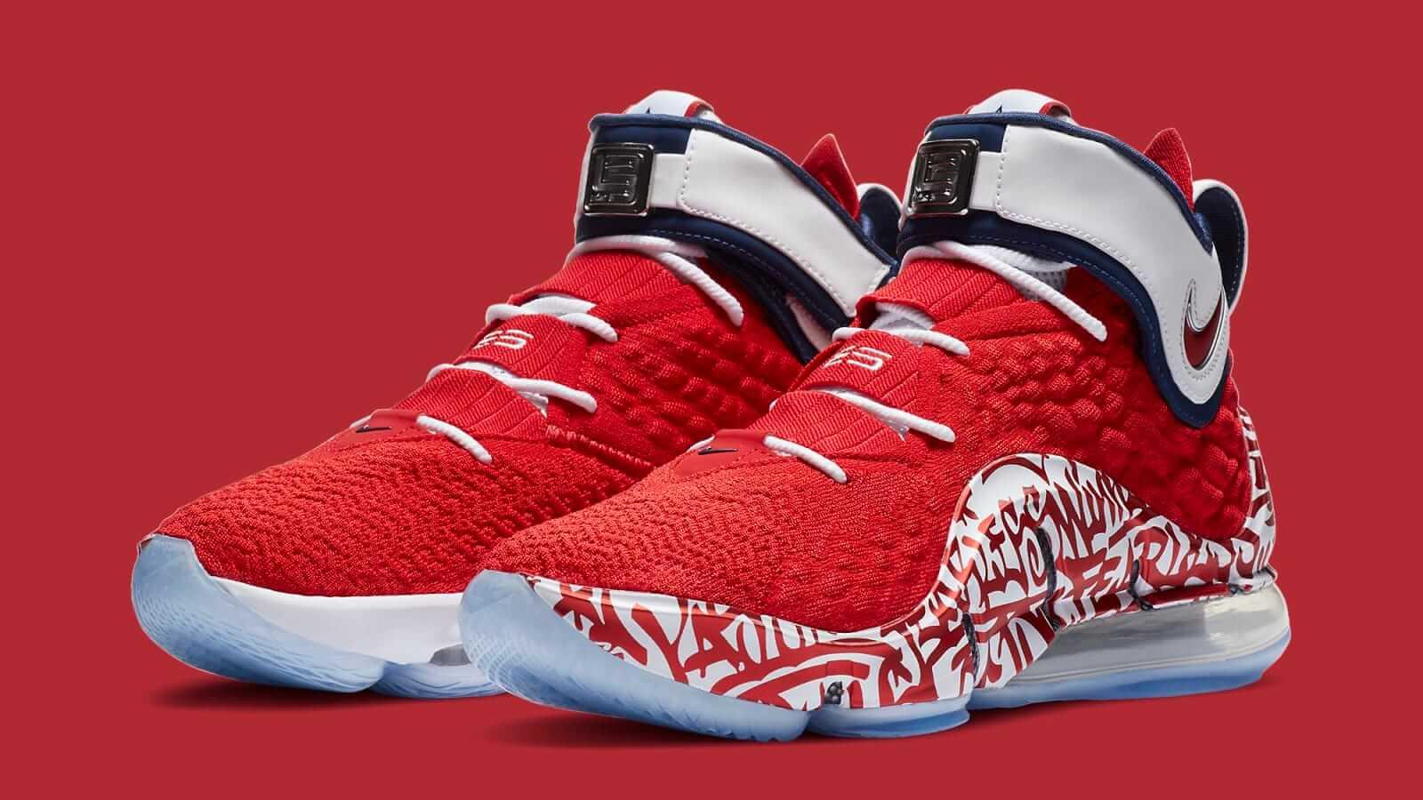 Nike LeBron 17 Fire Red Graffiti Yakında Geliyor