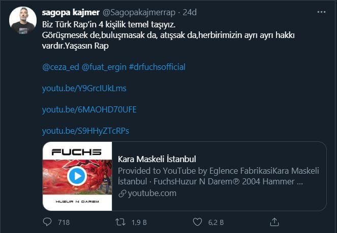 Sagopa Kajmer Ceza, Fuat ve Dr.Fuchs paylaşımı